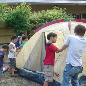 体験キャンプ〜初夏の納涼イベント【山梨の日帰り温泉つむぎの湯】
