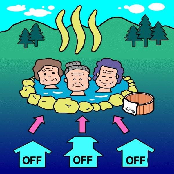節電・外出支援キャンペーン (山梨県市川三郷町営温泉つむぎの湯)