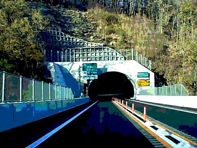 中部横断自動車道城山トンネル前
