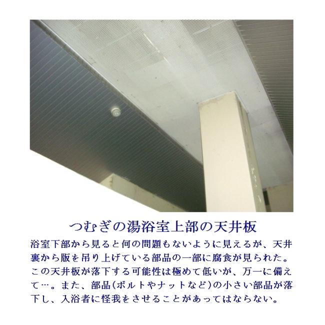 天井板−浴室【山梨県市川三郷町営温泉つむぎの湯】
