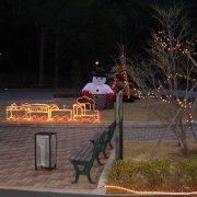 クリスマスイルミネーション1【山梨の観光立ち寄り温泉−つむぎの湯】