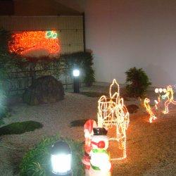 クリスマス装飾(館外)【山梨の日帰り温泉つむぎの湯】