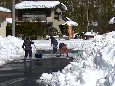 Warm-Share of Fat Burning type by snow shoveling��width=